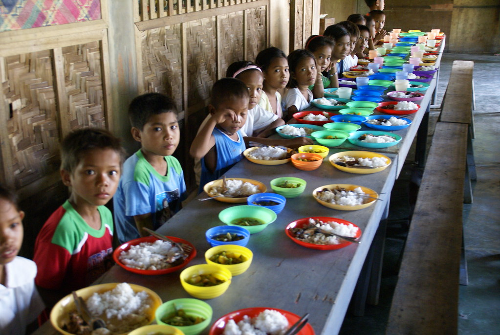Dining room in a school Philippines  Dining room in a