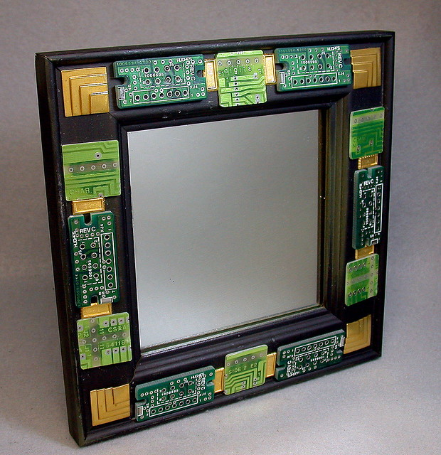 Recycled Circuit Board Vintage Black Wrought By Debbyaremdesigns