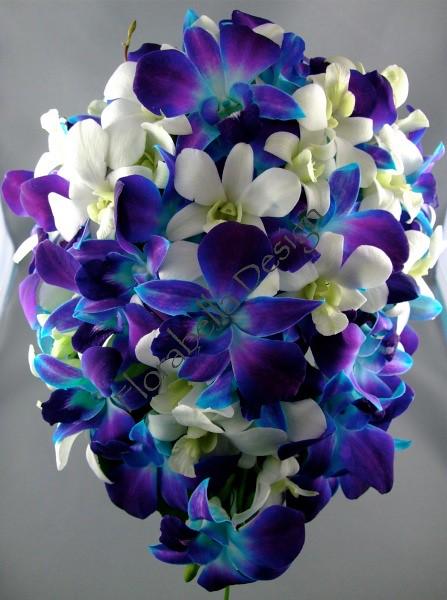 Blue Orchid Bridal Bouquet Wwwfbdesigncomau T45