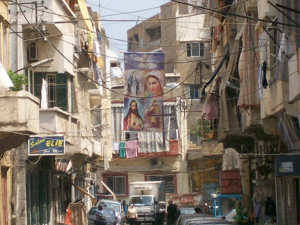 Street SceneBourj Hammoud  Typical street in Bourj