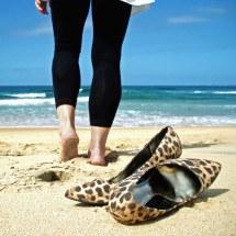 Barefoot Beach 'bare Feet' Cliche