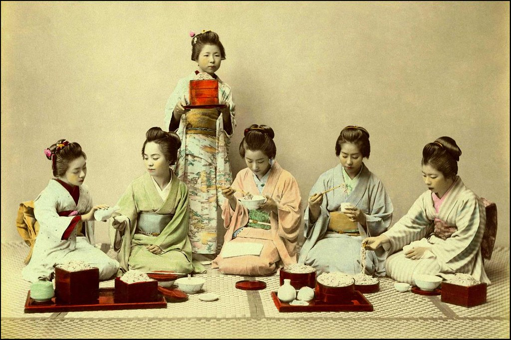 EVEN GEISHA HAVE TO EAT  More Meiji Macaroni Madness in