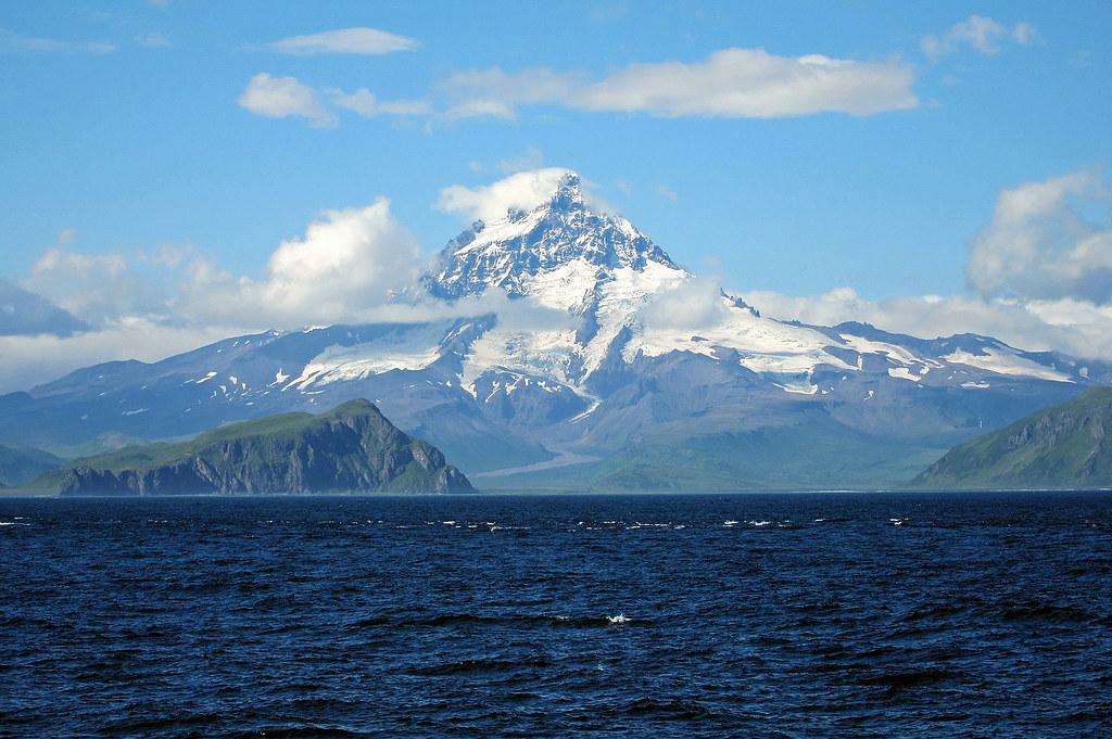 Isanotski Volcano Aleutian Islands Alaska  A dormant