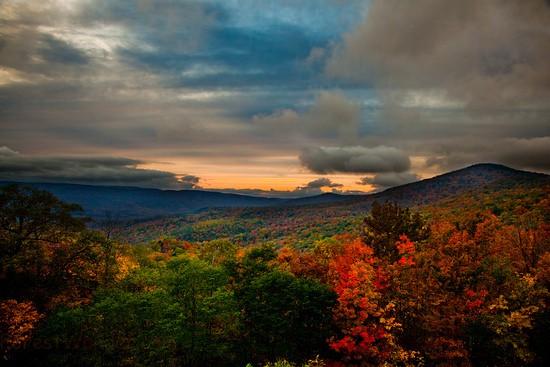 Fall Colors Computer Wallpaper West Virginia Fall Foliage Mountain Sunset Vibrant Fall