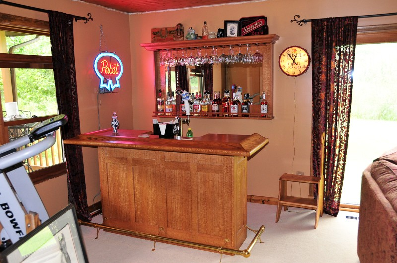 Home Bar  Finally finished the home bar area is a nice