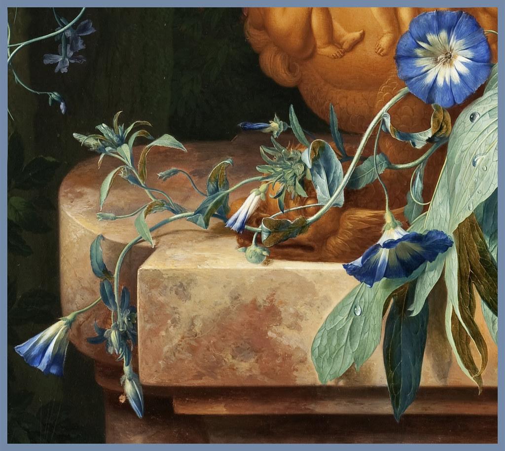 Jan van Huysum 1724 Bouquet of Flowers in an Urn detail  Flickr
