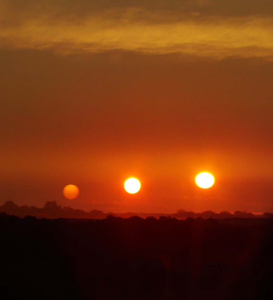 Triple Sun  Is this a panorama from an alien planet