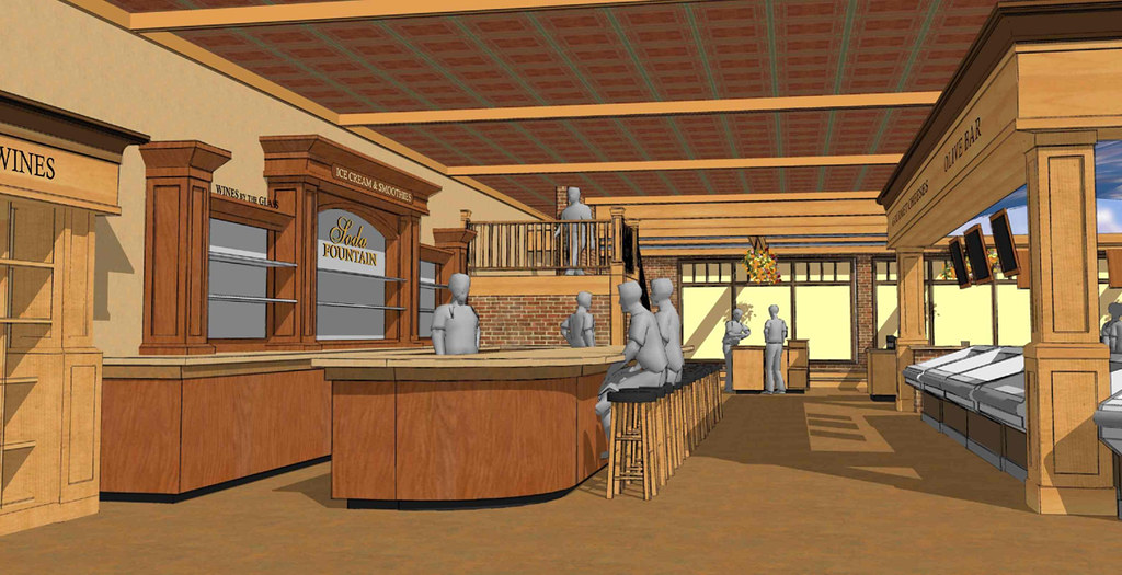 Grocery Store Dcor Design  Interior 3D Design  Interior