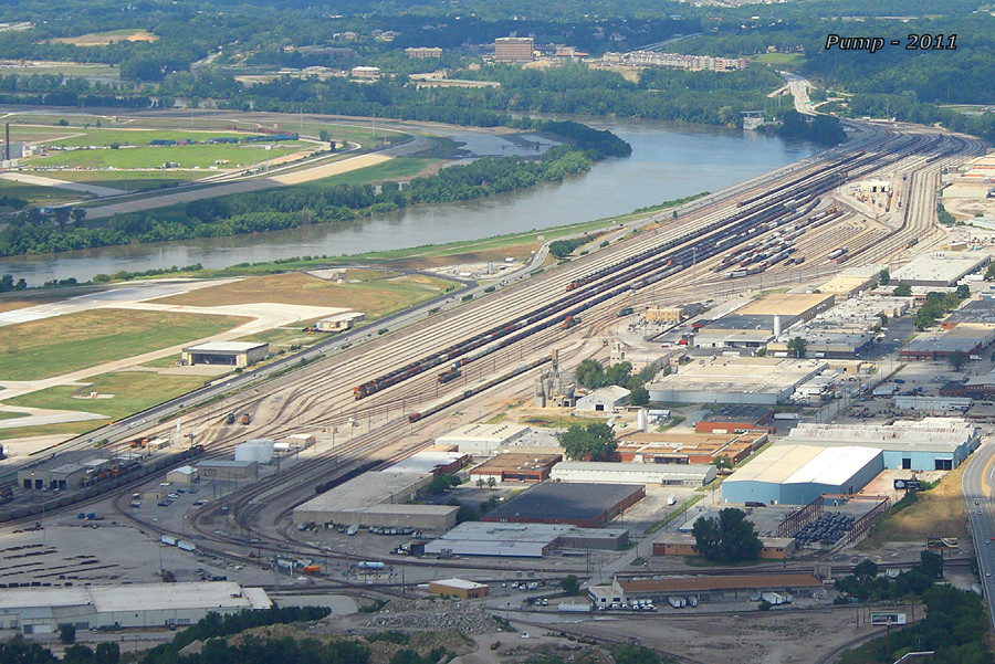 BNSF Murray Yard From the Sky at Kansas City MO  During