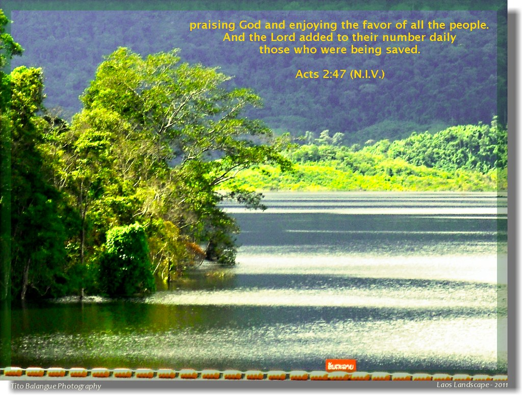 Acts 247  praising God and enjoying the favor of all the