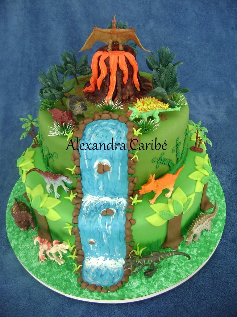 Bolo Dinossauros Jurassic Park Cake Alexandra Caribé
