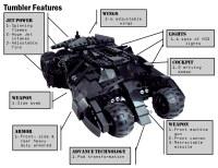 Features   Lego Batman Custom Tumbler w/ BATPOD ...