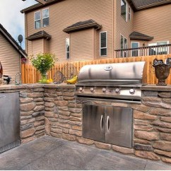 Outdoor Kitchens Granite Composite Kitchen Sink Custom By Paradise Restored Landscaping Flickr