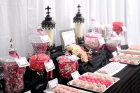Elegant Black/grey/pink/white Candy Dessert Table ...