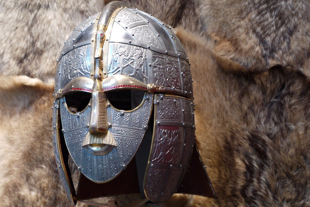 Anglo Saxon Helmet Sutton Hoo Suffolk  A reproduction