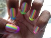 iridescent rainbow nail polish
