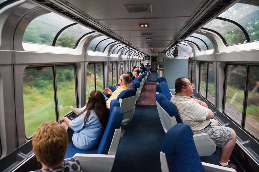 Lounge Car Interior on Amtraks Empire Builder  Lounge