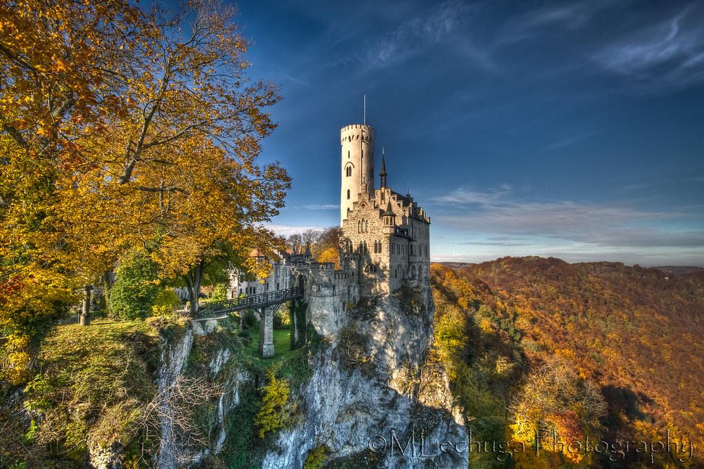 Fall Autumn Hd Wallpaper 1920x1080 Free Lichtenstein Castle Lichtenstein Castle Is Situated On A