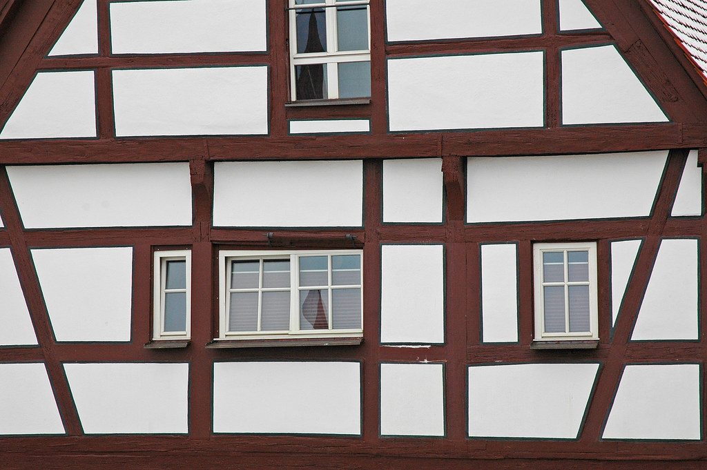 White House with Brown Trim  Nrdlingen Germany