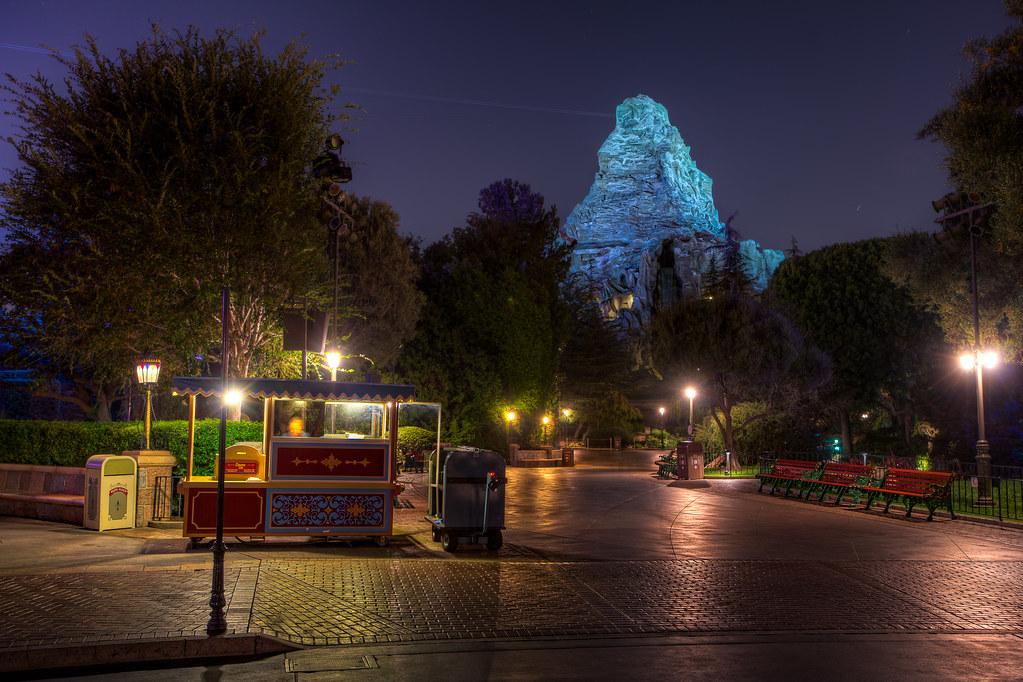 Matterhorn Mountain  A nice calm night just after Disneyla  Flickr