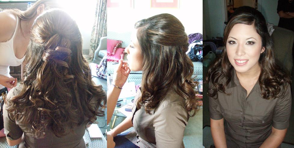 Asian Wedding Hairstyle Half Updo Victoria Flickr