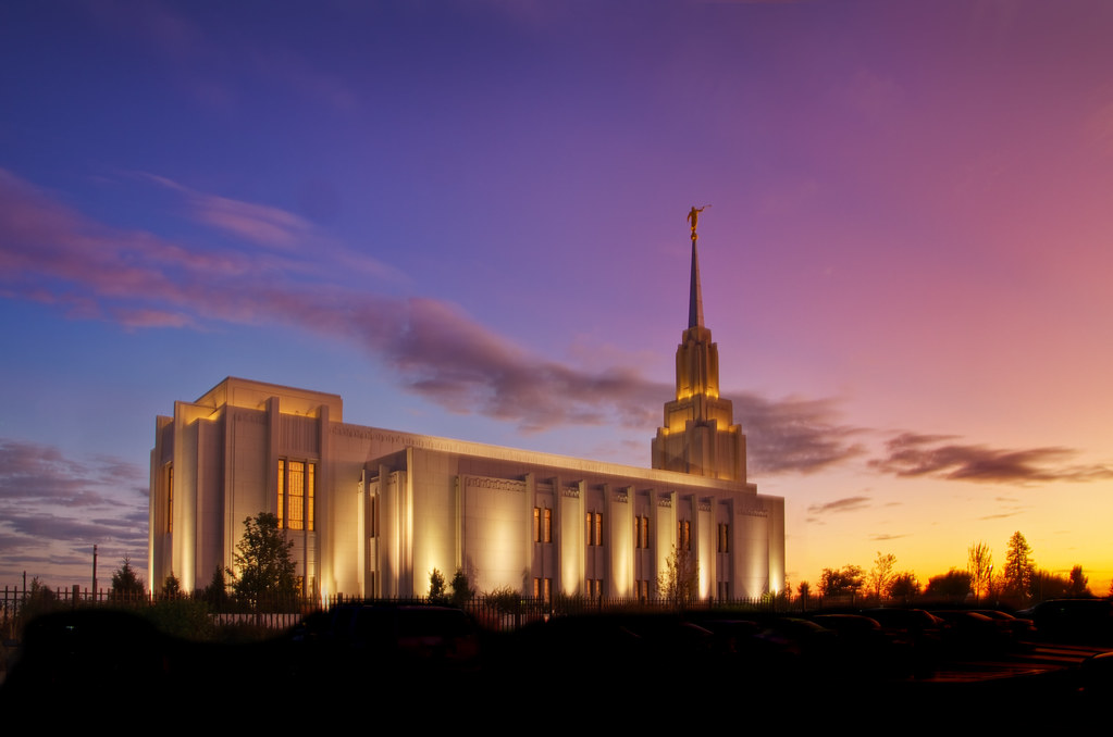 Dawn at the Twin Falls Temple  Presunrise over LDS Twin