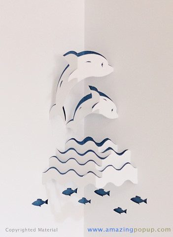 Dolphins Popup Card Wwwamazingpopupcom It Is Made By