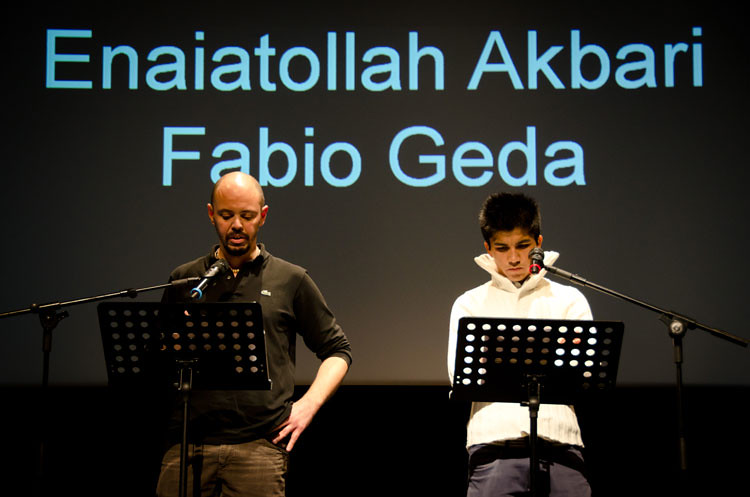 Fabio Geda e Enaiatollah Akbari  Fabio Geda e il giovane