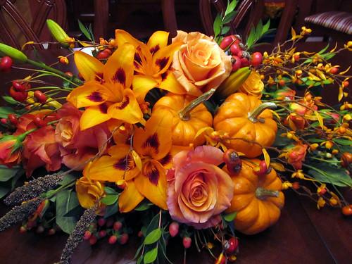 Fall Desktop Wallpaper With Pumpkins Thanksgiving Centerpiece Closeup Flowers Featured