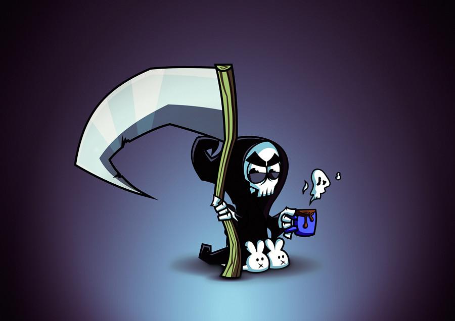 Cute Love Image Wallpaper The Grim Reaper Tik Tak Tik Tak Daniel Ferenčak