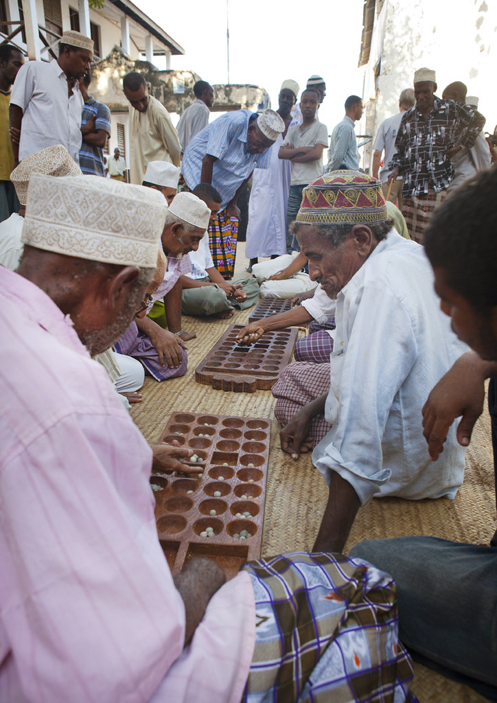 Bao game competition  Lamu Kenya  Bao is a traditional