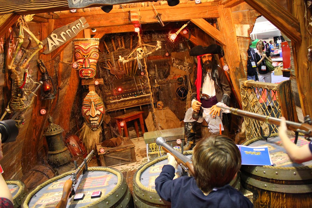 Daniels Wood Land pirates shooting gallery  Inside the
