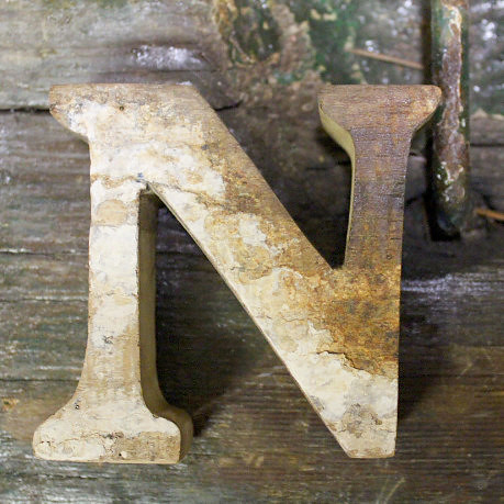 Letter N Beach Decor Vintage Nautical Wooden by SEASTYLE  Flickr