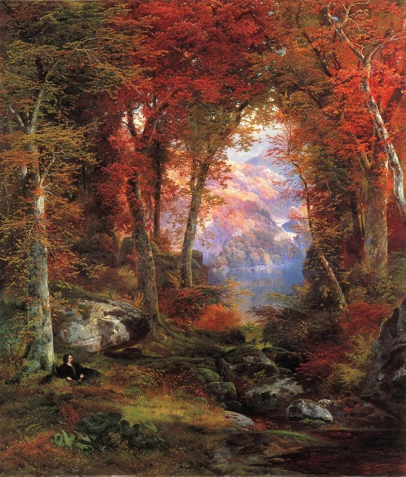 American Wallpaper Fall River Thomas Moran Quot The Autumnal Woods Quot Or Quot Under The Trees Quot 186