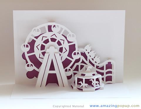 Ferris Wheel Popup Card Amazingpopup Com It Is Made