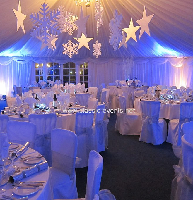 silver chair covers uk one stool classic events winter wonderland hanging snowflakes star flickr stars with sashes by www