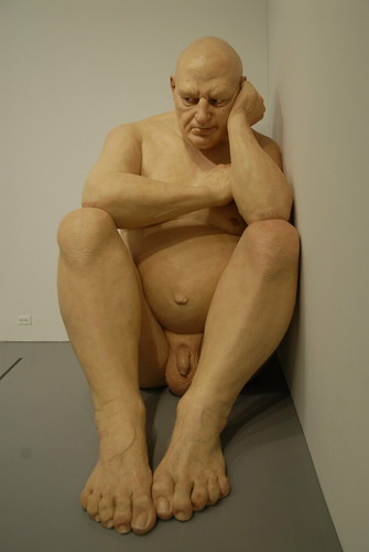 Big Man by Ron Mueck  This oversized statue of a nude old