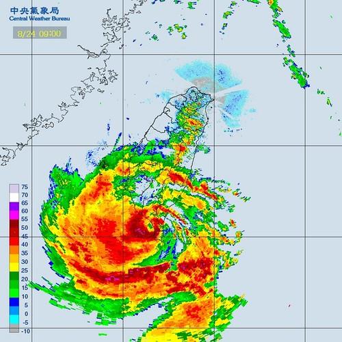 天秤颱風雷達回波圖(中央氣象局 提供) | TEIA | Flickr