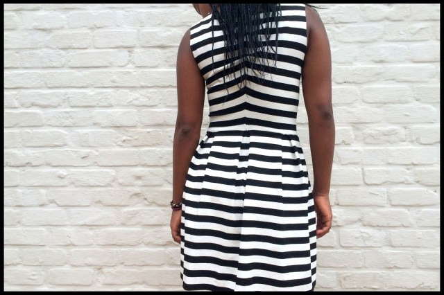 striped teenage dress (back)