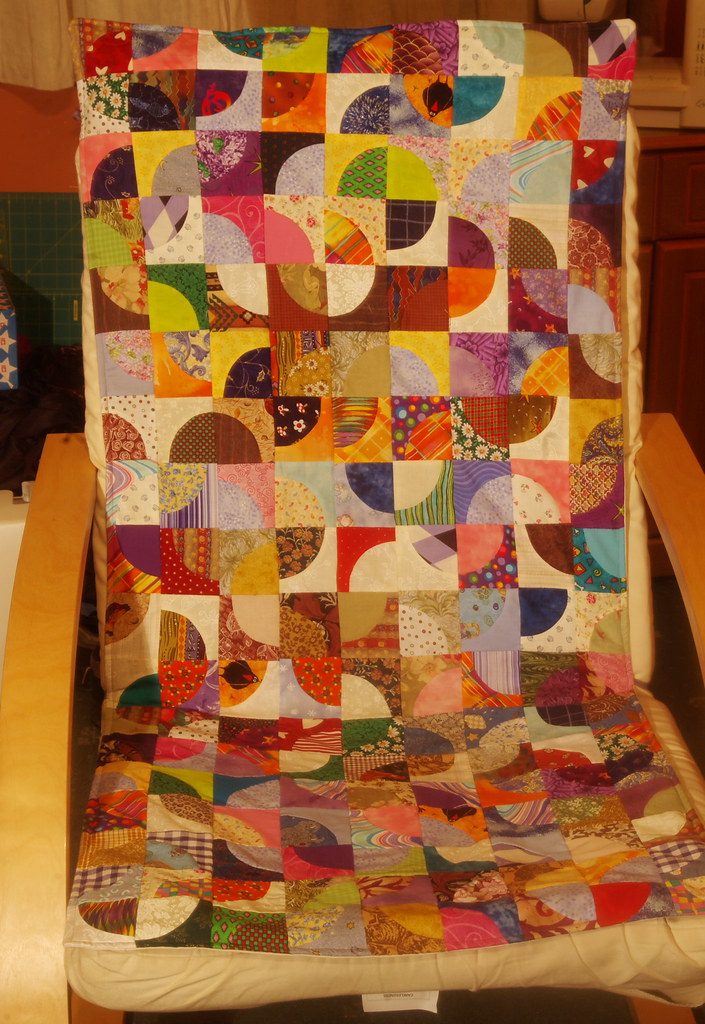 chair cover quilting merits power in drunkards path patchwork the needed a flickr by caradragonlady