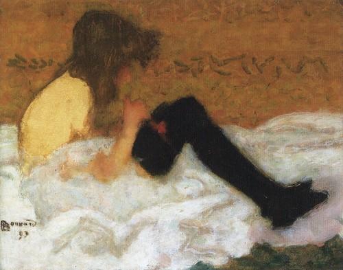B  Pierre Bonnard  Le jeune fille aux bas noirs 1893  Flickr