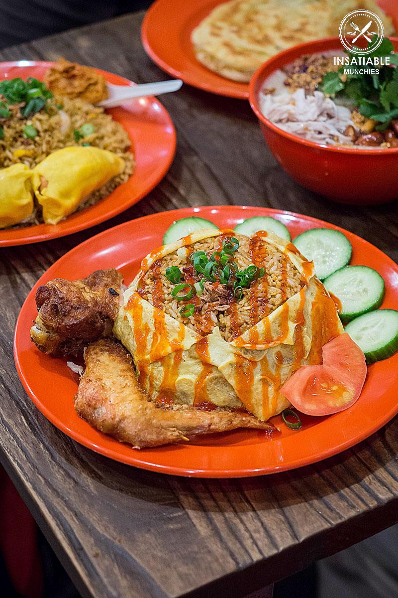 Nasi Pattaya (with added fried chicken), $15.80: Ho Jiak, Strathfield. Sydney Food Blog Review