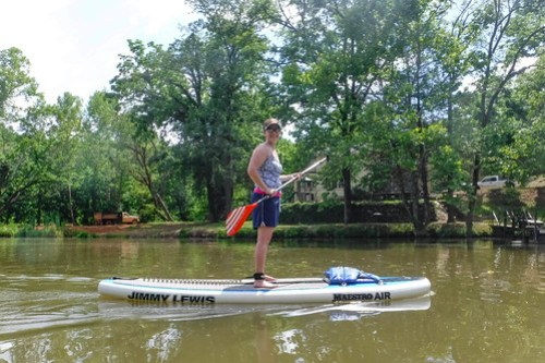 Kayaking and SUP on Saluda Lake-21