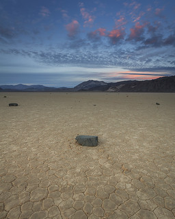 Sunset Over the Racetrack Playa