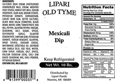 RECALLED – Mexicali Dip | November 1, 2013
