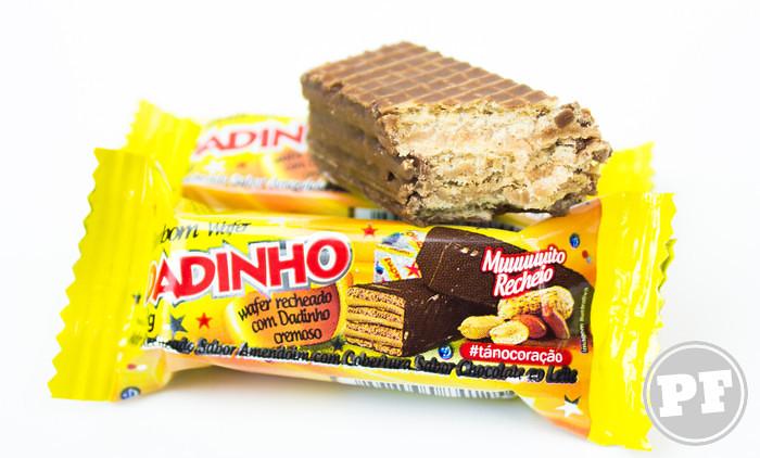 Dadinho Cremoso: Wafer com Chocolate