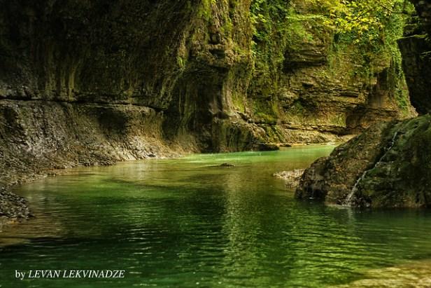 Gachedili Canyon, Martvili, Georgien