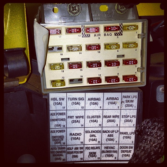 tj wiring diagram 5 pin switch jeep fuse box wrangler forum tap into panel located behind the glove flickr by programwitch 2000 diagrams
