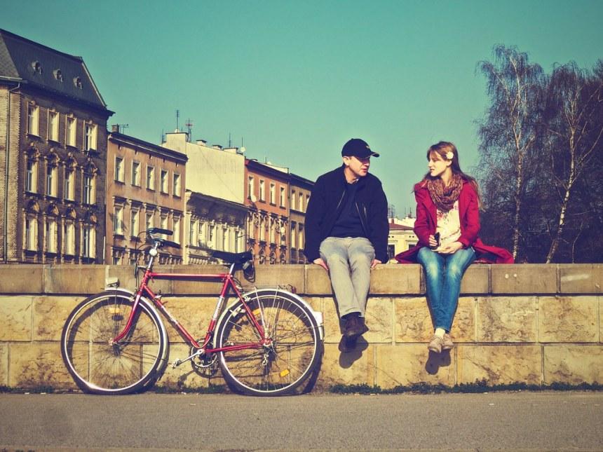 Couple & bike