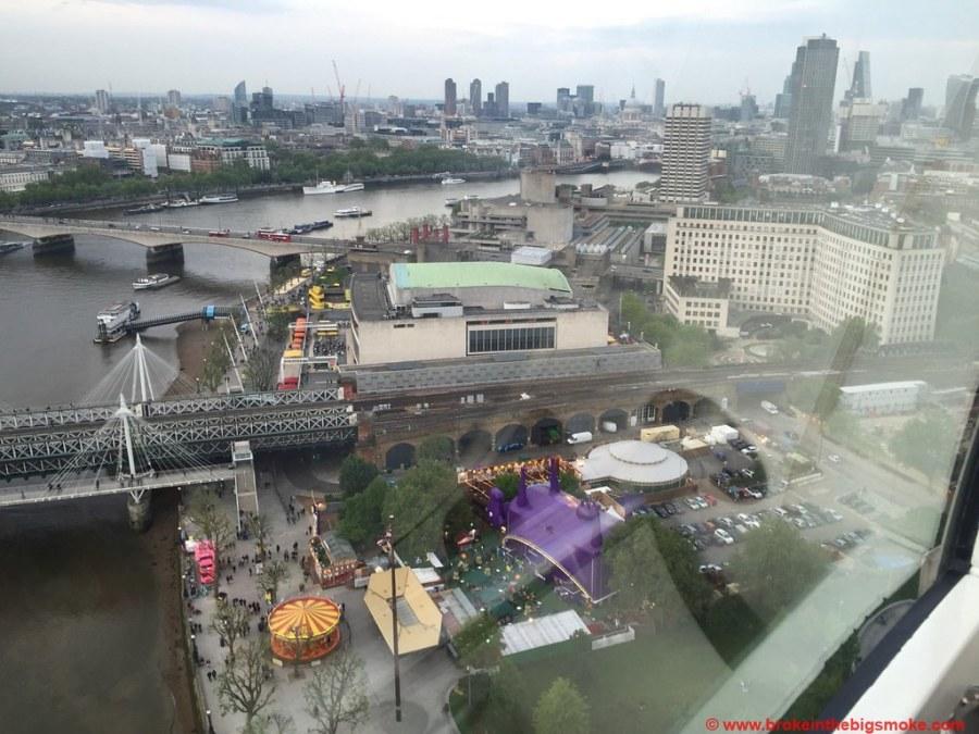 London Eye Udderbelly view